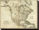 Map of North America  c1796