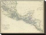 Amérique Centrale, Sud du Mexique, 1842 Tableau sur toile
