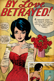 Marvel Comics Retro: By Love Betrayed Comic Panel  Evening Gown and Gloves  with Roses (aged)