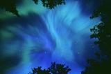 Northern Lights Or Aurora Borealis  Tilton Lake  Sudbury  Ontario  Canada