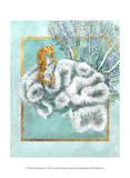Coral and Seahorse Reproduction d'art par Lori Schory