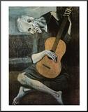 Le vieux guitariste aveugle, vers 1903 Reproduction montée par Pablo Picasso