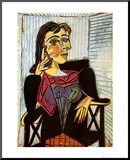 Portrait of Dora Maar, c.1937 Reproduction montée par Pablo Picasso