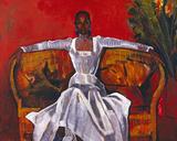 Sheila on a Rattan Settee, 1982 Giclée par Boscoe Holder