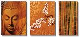 Bouddha I Tableau multi toiles par Keith Mallett