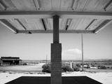 Arizona Deserted Gas Station Awning Landscape