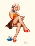 Betty au téléphone