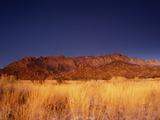 Sandia Mountains Desert Twilight Landscape  New Mexico