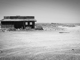 Arizona Deserted Building Architecture Landscape  Two Guns Ghost Town in Black and White