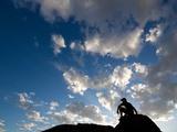 Sunset Sky Silhouette Man