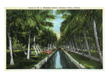 Miami  Florida - W J Matheson Estate Canal Scene at Coconut Grove