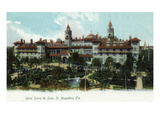 St Augustine  Florida - Panoramic View of Hotel Ponce De Leon