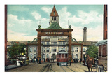 Denver  Colorado - View of 17th Street Welcome Arch  Union Station