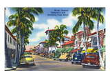 Palm Beach  Florida - View Down Worth Avenue