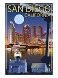 San Diego  California - Skyline at Night