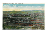Altoona  Pennsylvania - Aerial View of Red Bridge  Penn Rail Yards