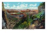 Grand Canyon Nat'l Park  Arizona - Bright Angel Trail View of Grand Canyon