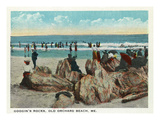 Old Orchard Beach  Maine - Googin's Rocks Scene