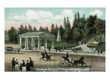 Saratoga Springs  New York - Congress Spring Scene in 1848