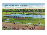 Saratoga Springs  New York - View of the Race Track Finish Line