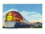 View of a Santa Fe Streamlined Train