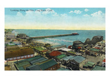 Long Beach  California - Aerial View over the Pike