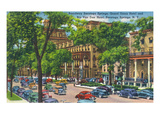 Saratoga Springs  New York - Grand Union and Rip Van Winkle Hotels View