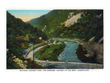 Cumberland  Maryland - National Road Through the Narrows Scene