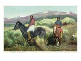 Arizona - Navajo Men on Horseback
