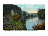 Blue Ridge Mountains  North Carolina - French Broad River Scene