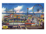 Wildwood  New Jersey - Wildwood-By-The-Sea Playland View