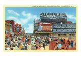 Atlantic City  New Jersey - Steel Pier View from Boardwalk