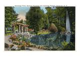 Syracuse  New York - Fountain and Japanese Pergola at Onondaga Park