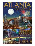 Atlanta  Georgia - Skyline at Night