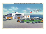 Miami  Florida - Pan-American Airways Terminal  Clipper Arriving from Jamaica