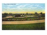 Kansas City  Missouri - View of Flower Beds in Swope Park