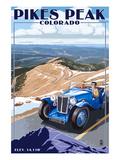 Pikes Peak  Colorado - Auto Road Scene