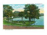 Orlando  Florida - Lake Lucerne Circle Scene