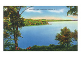 Saratoga Springs  New York - View of Saratoga Lake
