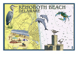 Rehoboth Beach  Delaware - Nautical Chart