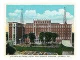 Atlanta  Georgia - Atlanta-Biltmore Hotel Exterior and Sunken Gardens View
