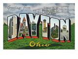 Dayton  Ohio - Large Letter Scenes  Wright Bros Plane