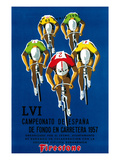 Bicycle Race Promotion Reproduction d'art par Lantern Press