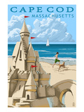 Cape Cod  Massachusetts - Sand Castle