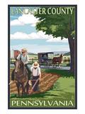 Lancaster County  Pennsylvania - Amish Farm Scene
