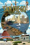 San Diego  California Montage