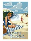 Woman on Beach - Kiawah Island  South Carolina