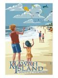 Kite Flyers - Kiawah Island  South Carolina