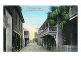 St Augustine  Florida - St George Street Scene