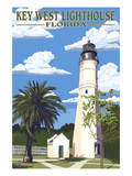 Key West Lighthouse  Florida Day Scene